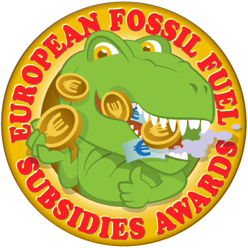 CAN Europe Fossil Fuel Subsidies Dino head